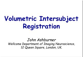 Intersubject registration for fMRI
