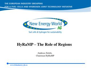 HyRaMP – The Role of Regions Andreas Ziolek, Chairman HyRaMP