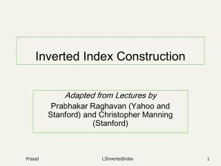 Inverted Index Construction