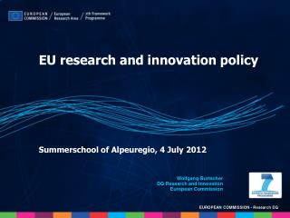 Summerschool of Alpeuregio, 4 July 2012