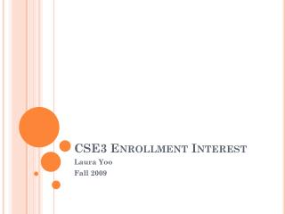 CSE3 Enrollment Interest