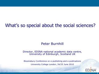 What's so special about the social sciences?