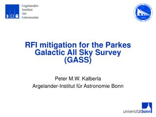 RFI mitigation for the Parkes  Galactic All Sky Survey  (GASS)