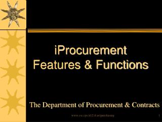 iProcurement Features & Functions
