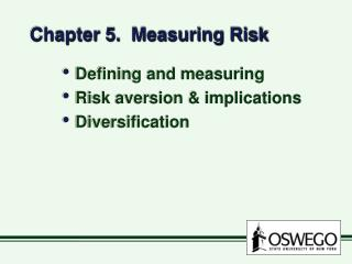 Chapter 5.  Measuring Risk