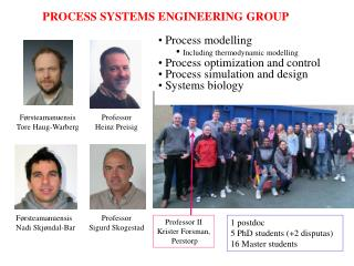 PROCESS SYSTEMS ENGINEERING GROUP