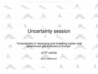 Uncertainty session