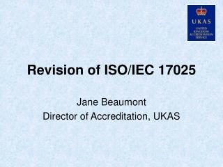Revision of ISO/IEC 17025