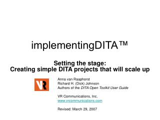 implementingDITA™