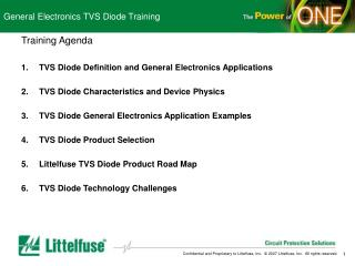 General Electronics TVS Diode Training