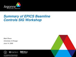 Summary of EPICS Beamline Controls SIG Workshop