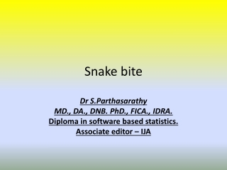 Situation of Snakebite Envenomation in Nepal
