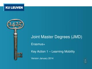 Joint Master Degrees (JMD)