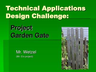 Technical Applications Design Challenge: