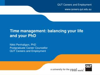 Time management: balancing your life and your PhD
