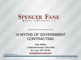10 MYTHS OF GOVERNMENT CONTRACTING