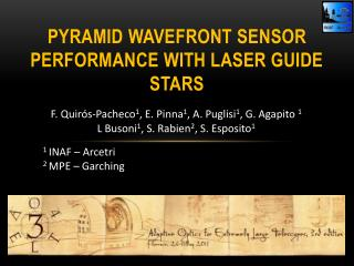 Pyramid  wavefront sensor performance with laser guide stars