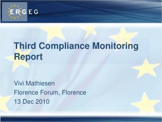 Third Compliance Monitoring Report