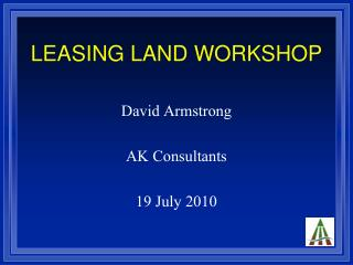 LEASING LAND WORKSHOP