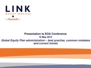 Presentation to EOA Conference 10 May 2012