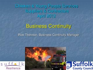 Children & Young People Services  Suppliers & Contractors  April 2012