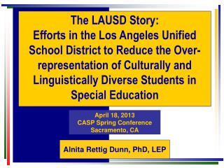 The LAUSD Story: