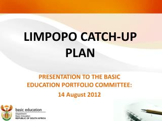LIMPOPO CATCH-UP PLAN
