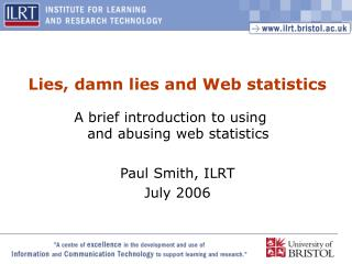 Lies, damn lies and Web statistics