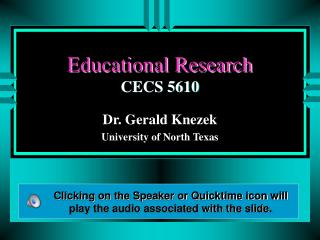 Educational Research CECS 5610
