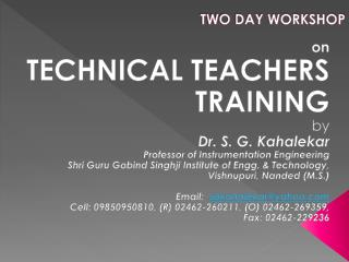 TWO DAY WORKSHOP