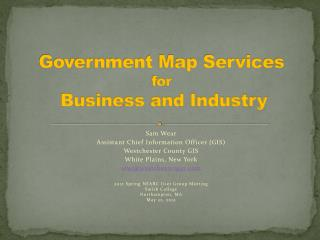 Government Map Services for Business and Industry