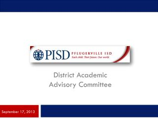 District Academic  Advisory Committee