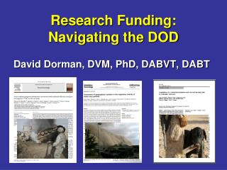 Research Funding: Navigating the DOD