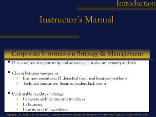 Corporate Information Strategy & Management