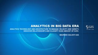 ANALYTICS IN BIG DATA ERA