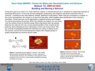 Penn State MRSEC: Center for Molecular Nanofabrication and Devices    Mallouk T.E. DMR-0213623 Building and Moving a Nan