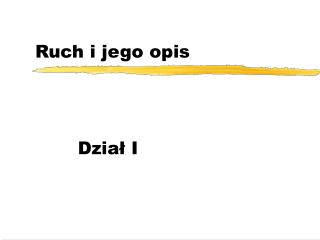 Ruch i jego opis