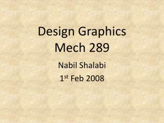 Design Graphics Mech 289