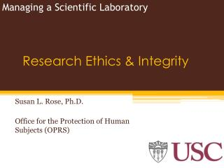 Research Ethics & Integrity