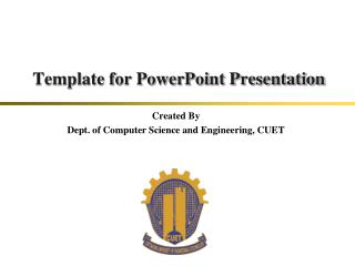 Template for PowerPoint Presentation