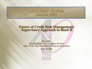 CIA Annual Meeting Session 4405