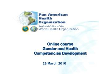 Online course  Gender and Health Competencies Development