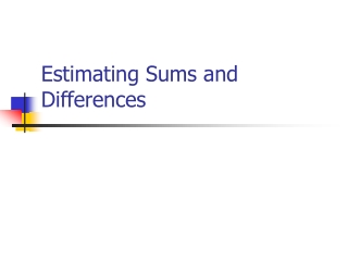Estimating Sums