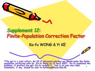 Supplement 12: Finite-Population  Correction Factor