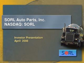 SORL Auto Parts, Inc. NASDAQ: SORL