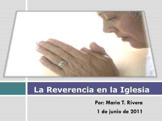 La Reverencia en la Iglesia