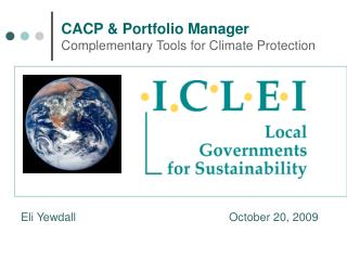 CACP & Portfolio Manager Complementary Tools for Climate Protection