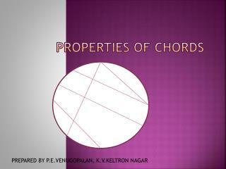 Properties of chords
