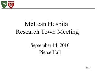 September 14, 2010 Pierce Hall