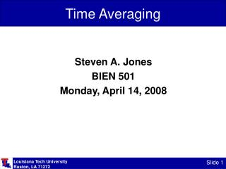 Time Averaging